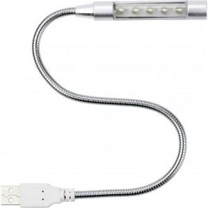 5 LED-es laptoplámpa USB csatlakozóval, fém